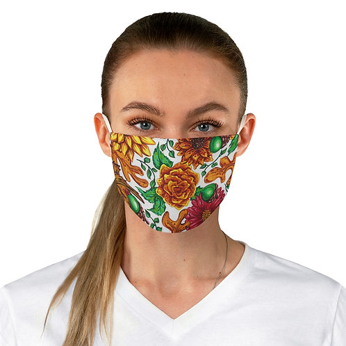 Fall Flowers, Fabric Face Mask
