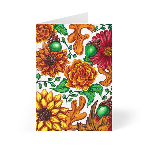 Fall Flowers, Greeting Cards (8 pcs)