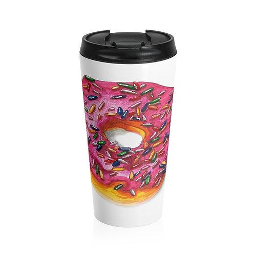 Donut, Stainless Steel Travel Mug