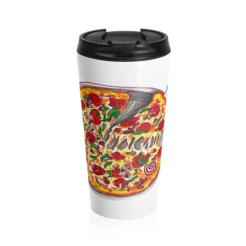 Pizza, Stainless Steel Travel Mug