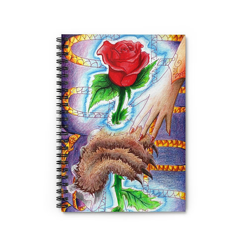 Beauty and the Beast, Spiral Notebook - Ruled Line