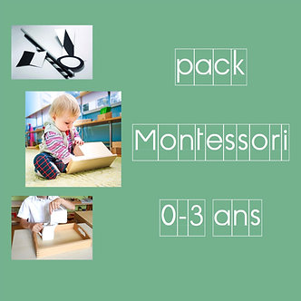 Pack Montessori 0-3 ans