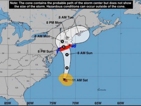 Hurricane Henri: Temporary Suspension of Construction Work