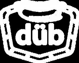 Logo DUB, design par le Studio AA, Cart de hotdog du restaurant nantais Dubrown.