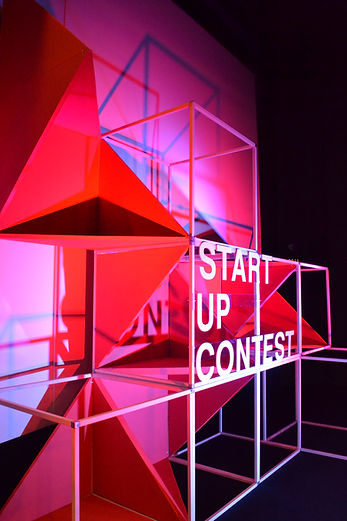 Photo de scénographie du start up contest à audencia organisé par atlantic 2.0.