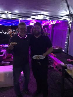 Drew & Zak eating pork Bahn Mi
