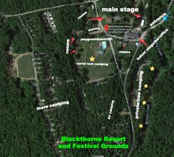 Blackthorne festival map