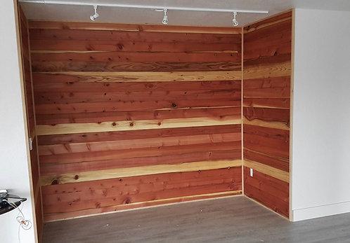 #1 Redwood paneling