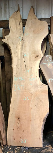 """Figured maple surfaced 932 (1.75""""x19-30"""" x82-105"""")"""