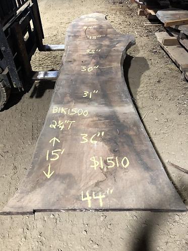"""Black walnut 1500 (2.25""""x30-45""""x15')"""