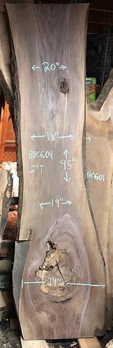 """black walnut 604 (2""""x18-24""""x95"""")"""