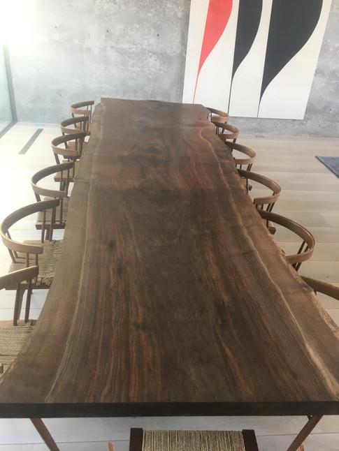 """50"""" x16' black walnut table"""