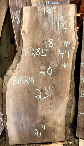 """Black walnut 2111 (1.75""""x18-23""""x49"""") surfaced"""