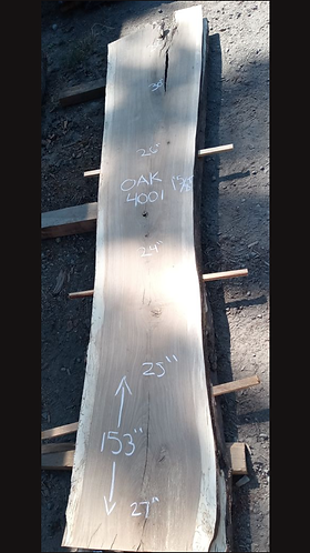 "Oak4001 (1.625""x24-32""x153"") surfaced"