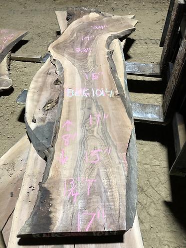 """Black walnut 1014 (1.75""""x15-29""""x8') surfaced"""