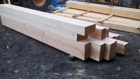 planed beams