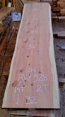 """Redwood 328 (2""""x32-37""""x147"""")"""