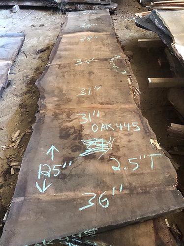 """Oak 445 (2.5""""x27-36""""x125"""")"""