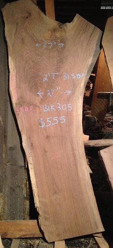 """black walnut 305 (2""""x22-37""""x7')"""