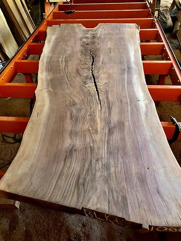 """black walnut 1066 (3""""x38-52""""x9') surfaced"""