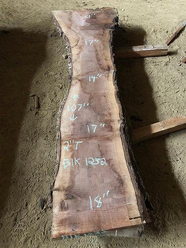 """black walnut 1232 (2""""x14-31""""x107"""")"""