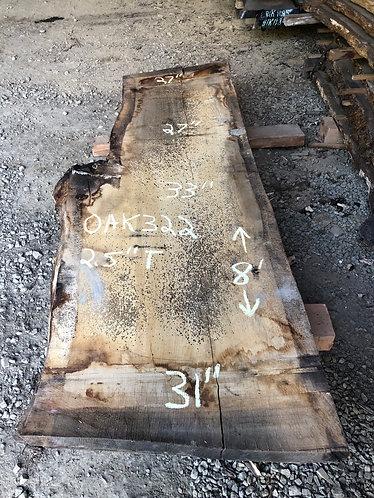 """Oak 322 (2.5""""x27-33""""x8')"""