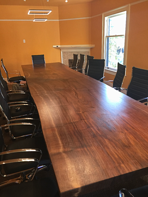 balck walnut conference table