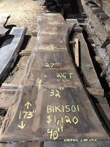 """Black walnut 1501 (2.25""""x23-40""""x173"""")"""