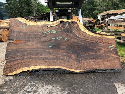 """black walnut 806 (3""""x41-72""""x132"""")"""