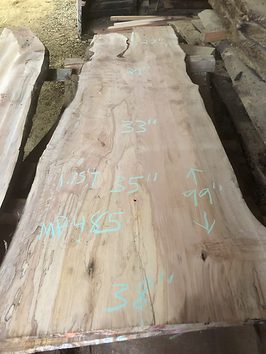 """Spalted Maple 485 (1.75""""x27-38""""x99"""") surfaced"""