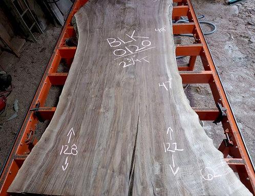 """Black walnut 0120 (2.75""""x47""""-64""""x122"""") surfaced"""