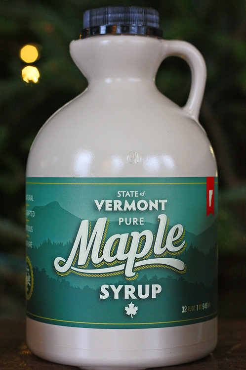 Pure Vermont Maple Syrup Quart 32 FL.OZ. (946ML)