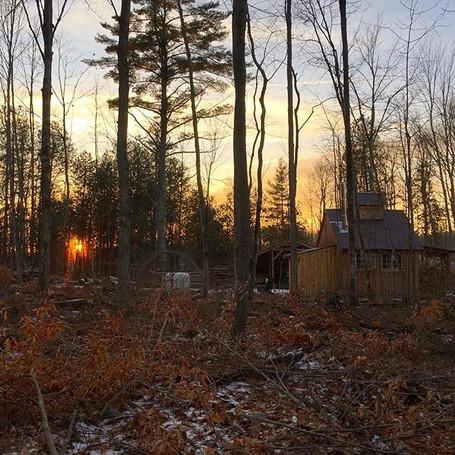 Sugarhouse sunset. #homesteadinglife #wo