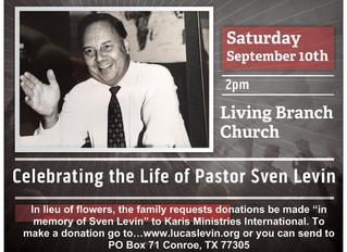 Celebrate the Life of Pastor Sven Levin