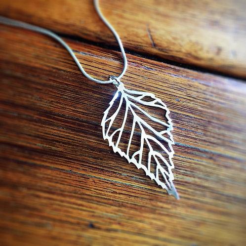 Pierced Leaf Pendant (Serrated Edge)