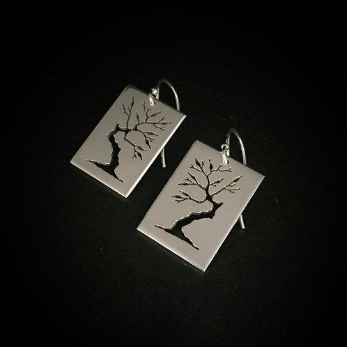 Pierced Bonsai Earrings