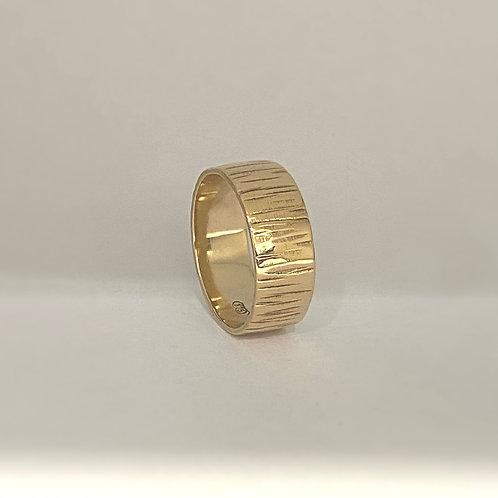 Gold Bark Textured Ring