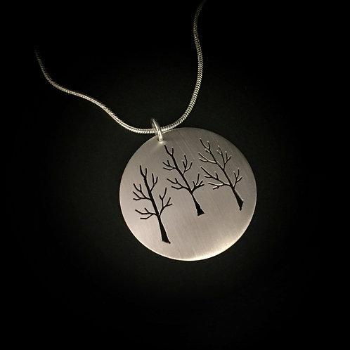 Extra Large Pierced Tree Pendant (Triple)