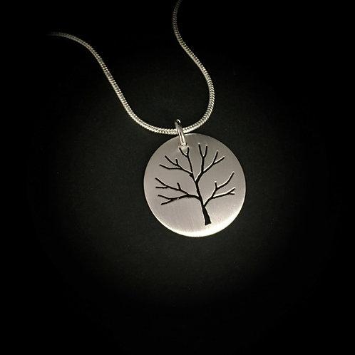 Small Pierced Tree Pendant (Single)