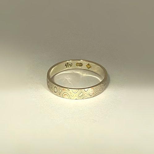 Gold Mokume Gane Ring