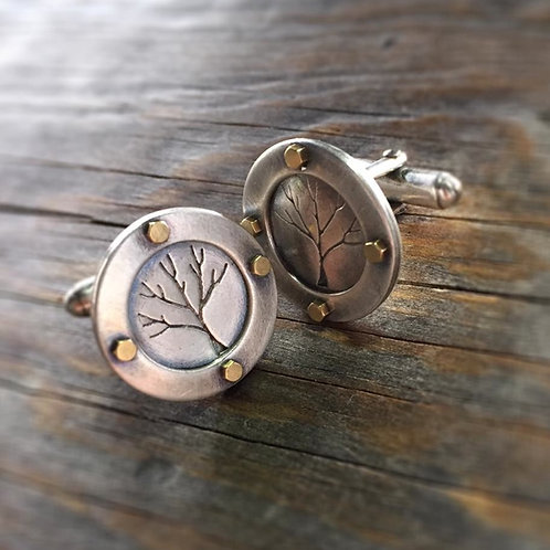 Steampunk Tree Cufflinks