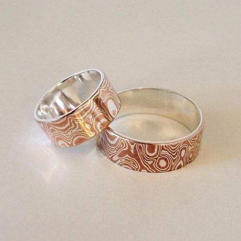 2 Metal Mokume Gane Ring