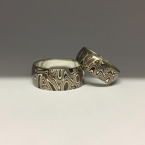 4 Metal Mokume Gane Ring