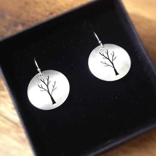 Small Pierced Tree Earrings (Single)