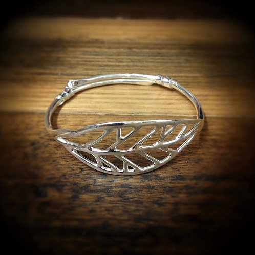 Adjustable Leaf Bangle