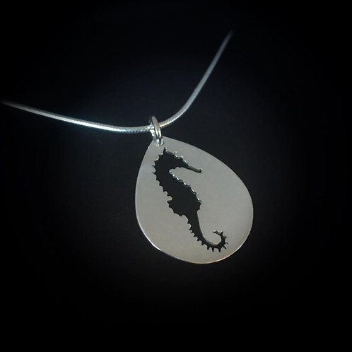 Pierced Seahorse Pendant