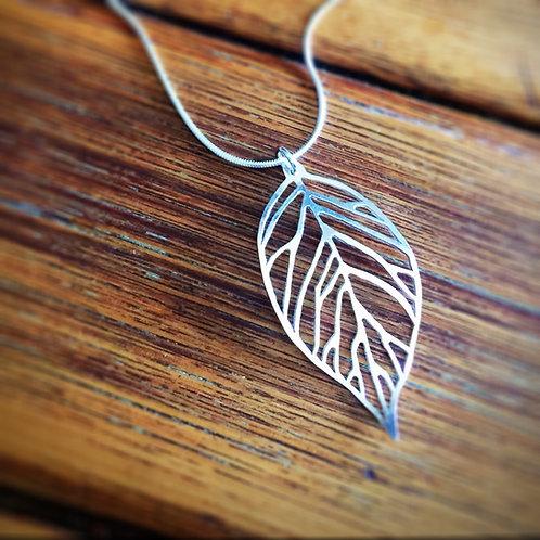 Pierced Leaf Pendant