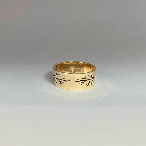 Gold Pierced Tree Ring