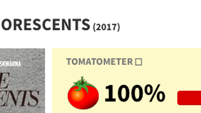 """Dim the Fluorescents"" Has 100% on Rotten Tomatoes"