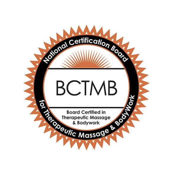 Board Certified in Therapeutic Massage & Bodywork